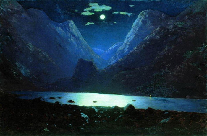 Дарьяльское ущелье. Лунная ночь. 1890-1895 (700x461, 99Kb)