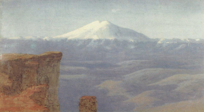 Туман в горах. Кавказ. 1898-1908 (700x382, 76Kb)