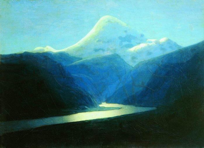 Эльбрус вечером2. 1898-1908 (700x508, 102Kb)