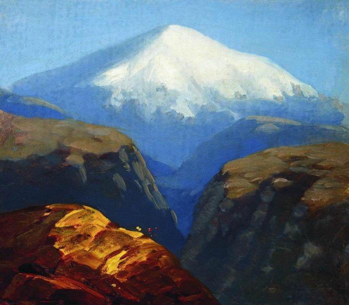 Эльбрус днем. Не ранее 1890 (700x611, 136Kb)