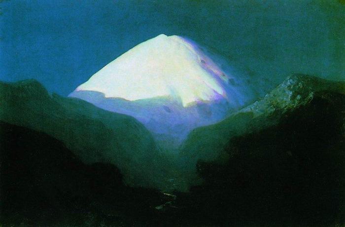 Эльбрус. Лунная ночь. 1890-1895 (700x460, 83Kb)
