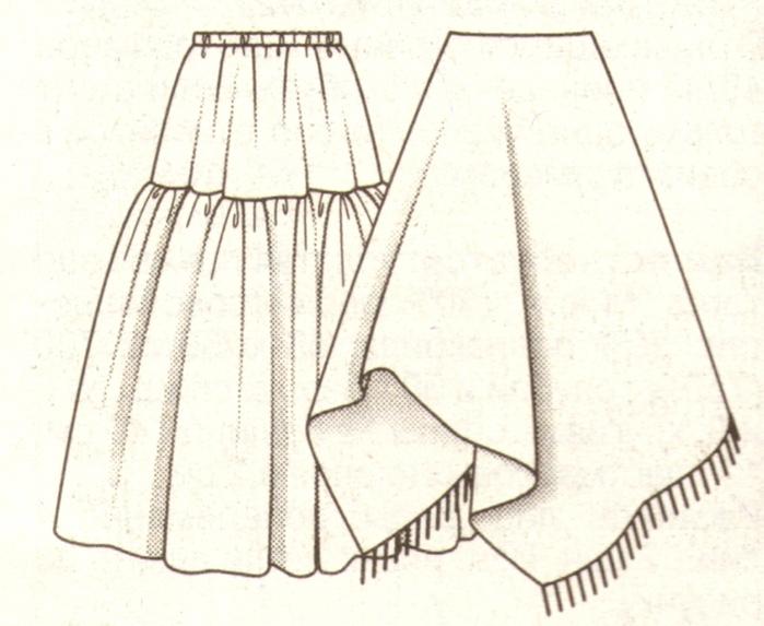 Сшить шерстяную юбку в пол