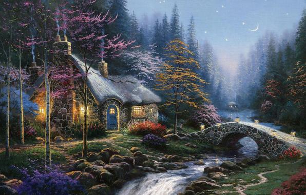 http://www.goodfon.com/download.php?id=239916&rash=2560x1600/4963546_Twilight_Cottage_Thomas_Kinkade_1_ (596x380, 374Kb)