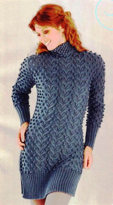 Элегантное платье-сфигер с рельефным узором