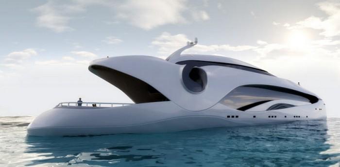 Красивая яхта Oculus