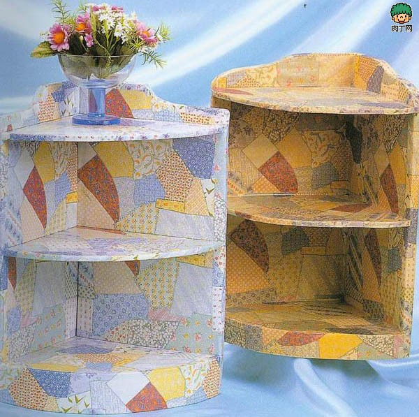 Этажерка из картонных коробок
