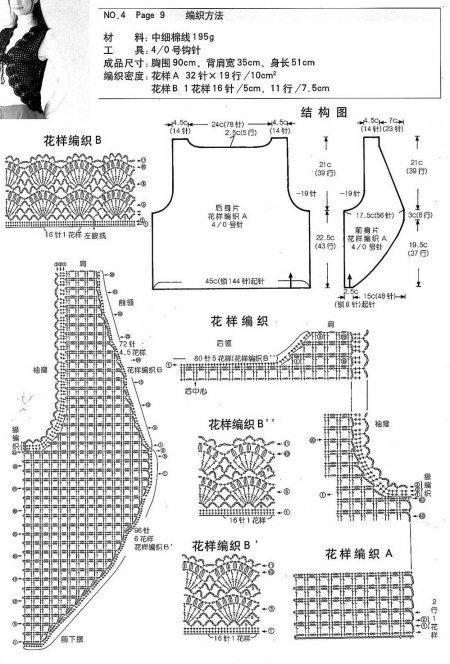 Вязание жилеты безрукавки схемы модели японские схемы модели