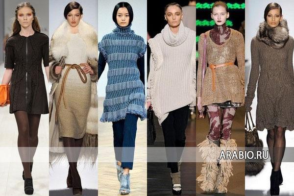 Мода осень зима 2012 2013 вязаные платья