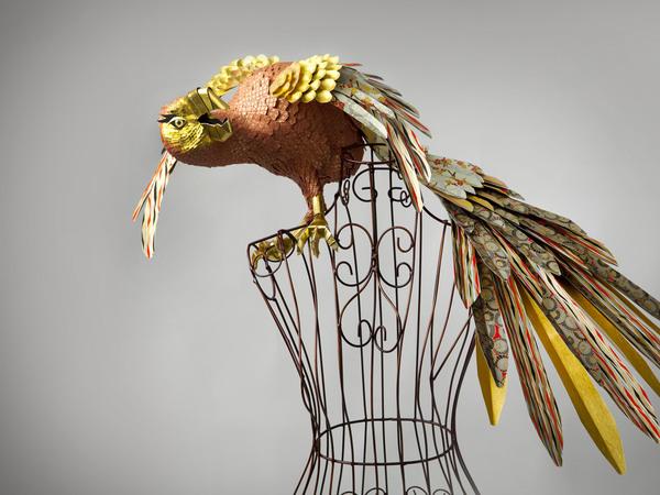 бумажные скульптуры птиц Julie Wilkinson и Joyanne Horscroft (600x450, 92Kb)