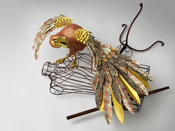 бумажные скульптуры птиц Julie Wilkinson и Joyanne Horscroft 2 (600x450, 90Kb)