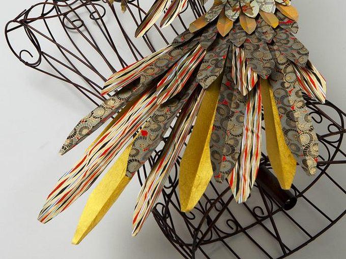 бумажные скульптуры птиц Julie Wilkinson и Joyanne Horscroft 4 (680x510, 91Kb)