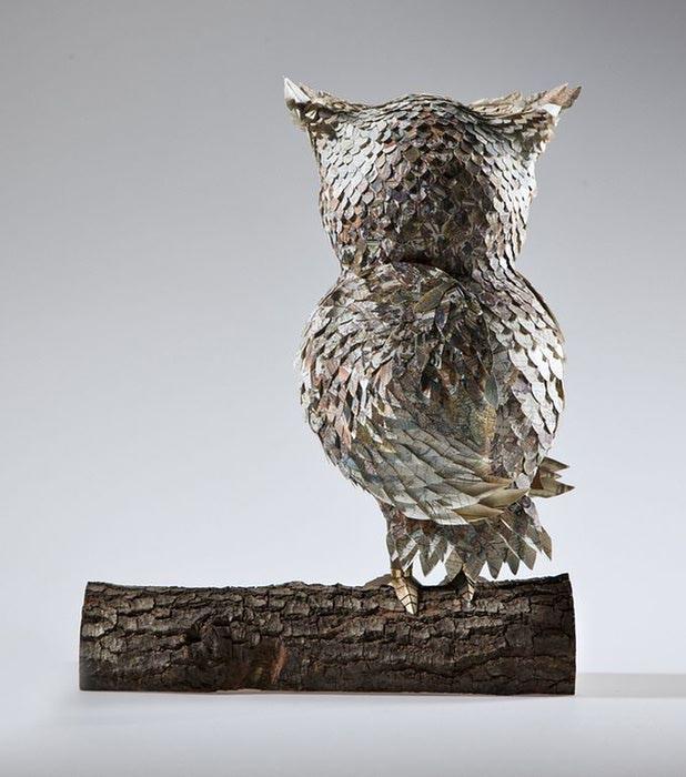 бумажные скульптуры птиц Julie Wilkinson и Joyanne Horscroft 6 (618x700, 61Kb)