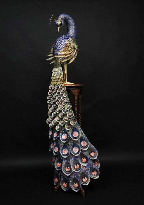 бумажные скульптуры птиц Julie Wilkinson и Joyanne Horscroft 8 (493x700, 167Kb)