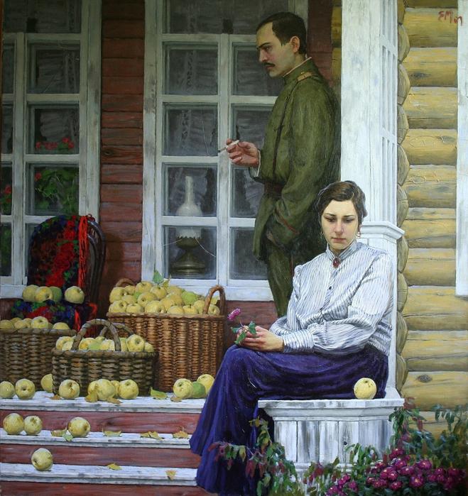 Муковнин Евгений Владимирович.Antonovskie jabloki (659x700, 408Kb)