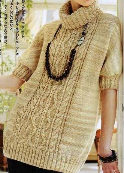 Женский вязаный спицами свитер с короткими рукавами /4683827_20120919_221619 (413x574, 269Kb)