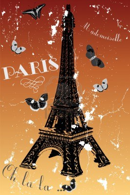 12080989-paris--vintage-poster-with-eiffel-tower-butterflies-and-french-text (267x400, 37Kb)