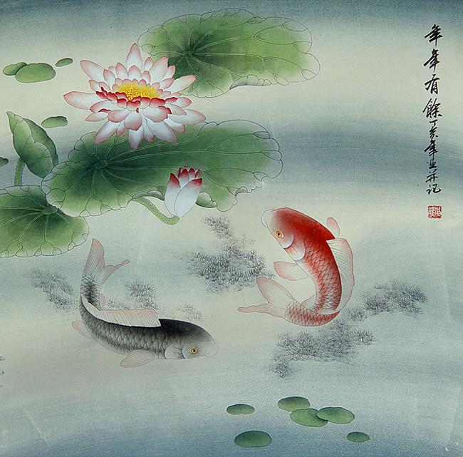 2 Китайская легенда говорит, люди оставили некие сообщения в животе рыбы, и таким образом рыба стала символом связи с далеким другом или любимым человеком (650x641, 240Kb)
