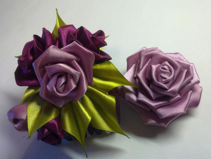 Мастер класс роза канзаши