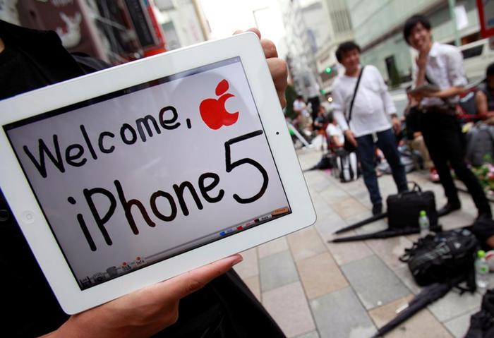 Невероятный ажиотаж вокруг iPhone 5 Фотографии