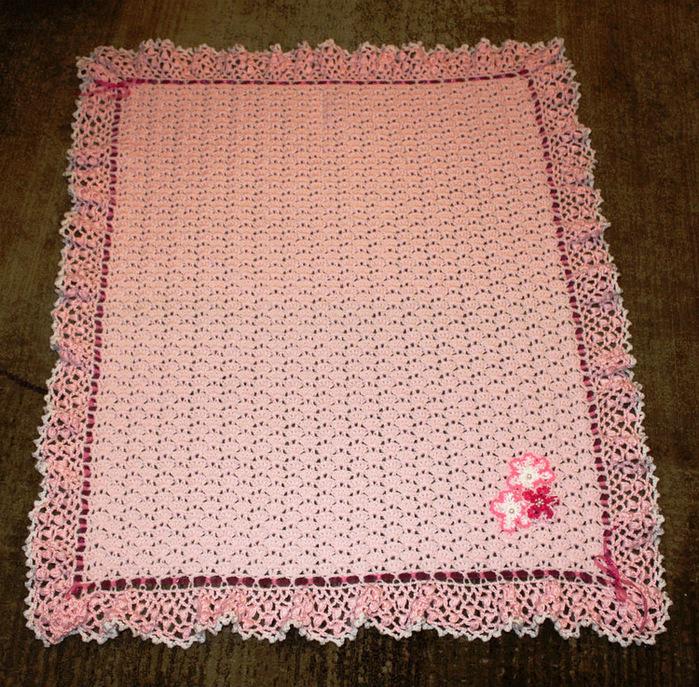 Вязаное одеяльце для новорожденного своими руками