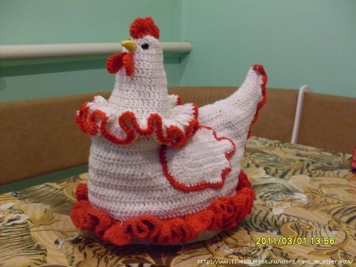 Вязание крючком курица для
