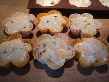 Ореховые маффины с фруктами