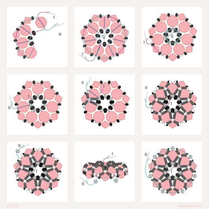 схема кулона из граненых бусин (700x700, 153Kb)