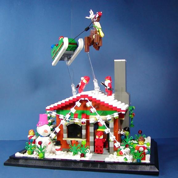 LEGO Holiday scene (578x577, 119Kb)