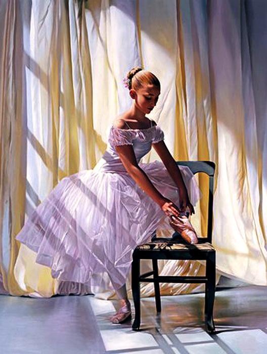 "Схема вышивки  ""Балерина 1 "": таблица цветов."