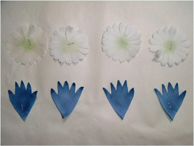 Как сделать васильки из ткани своими руками