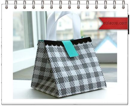 Элегантная подарочная сумочка из бумаги