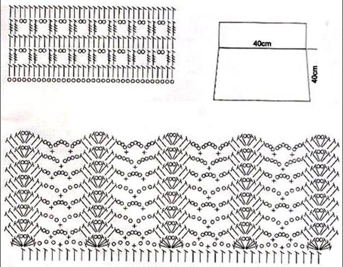 Схемы для вязания крючком для юбочек 75