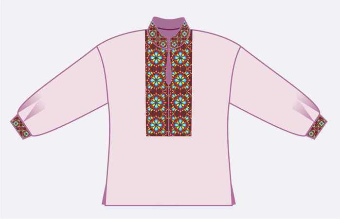 выкройка рубашки под вышиванку - Рабочие схемы и описания в быту.