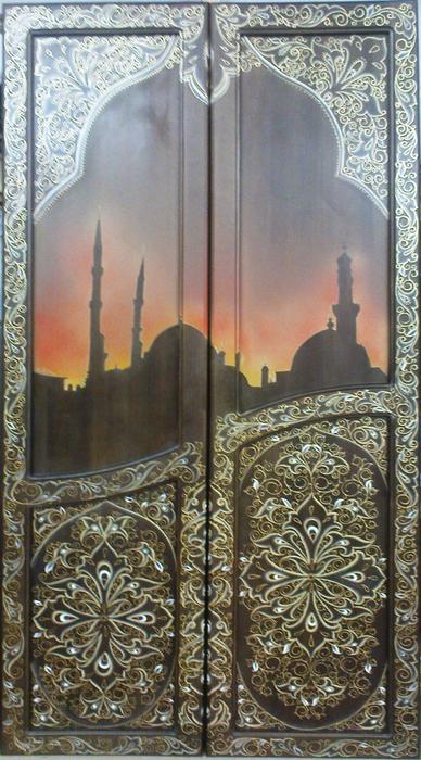 Роспись дверей платяного фкафа (388x700, 474Kb)