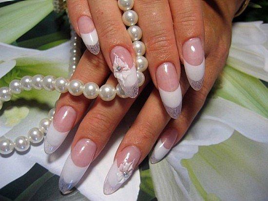 необычный дизайн ногтей френч фото: