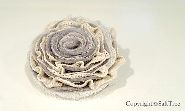 Как сделать цветок брошь из ткани своими руками