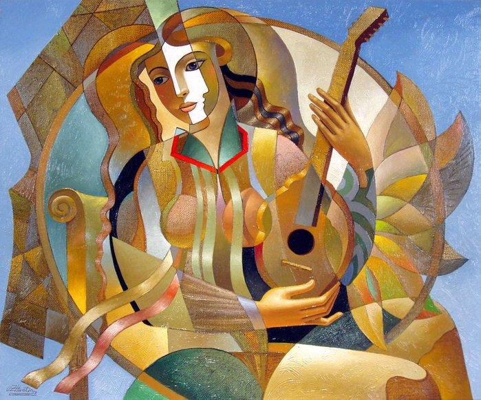 Golden Mandolin (700x581, 118Kb)