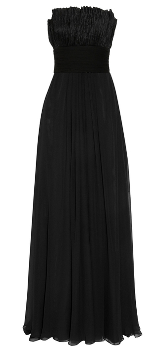 NOTTE BY MARCHESA Ruffled silk-chiffon gown (325x700, 60Kb)