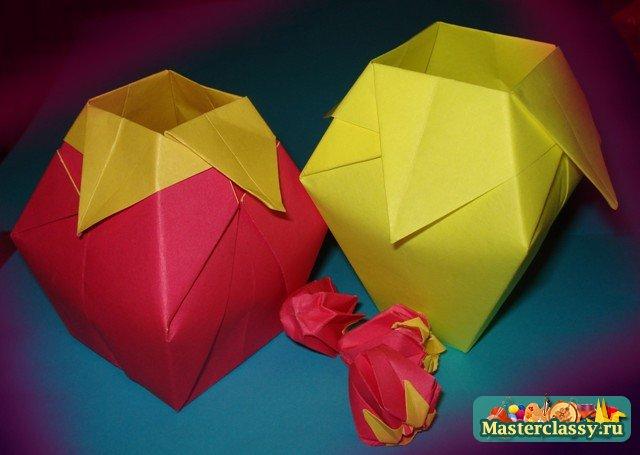 Вазы оригами своими руками фото