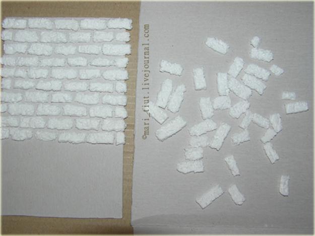 Кирпичная стена из потолочной плитки своими руками