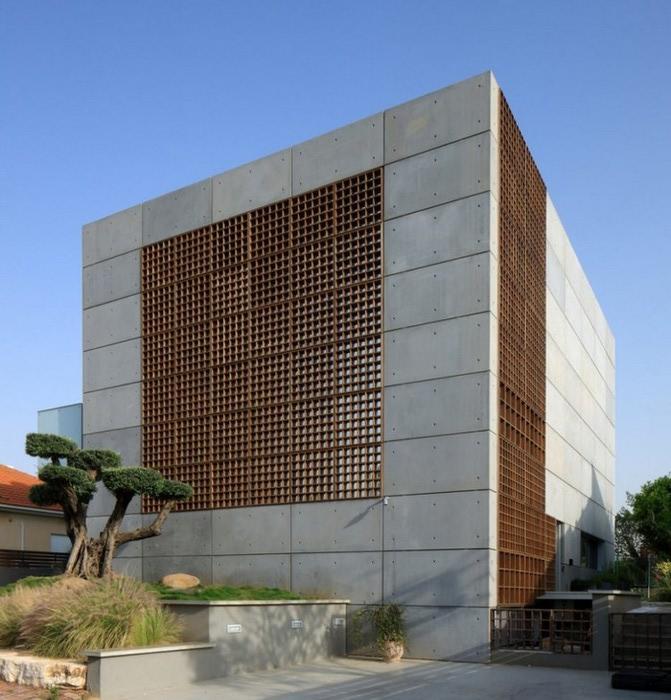 Квадратный дом в центре Израиля 2 (671x700, 114Kb)