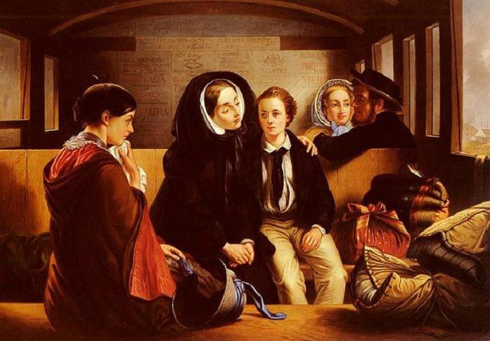 Abraham Solomon - Voyageurs de seconde classe, les adieux - 1854 (700x487, 56Kb)
