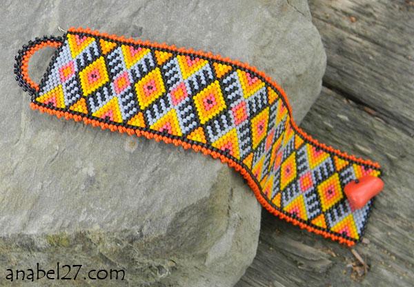 Браслеты мозаичного плетения схемы.