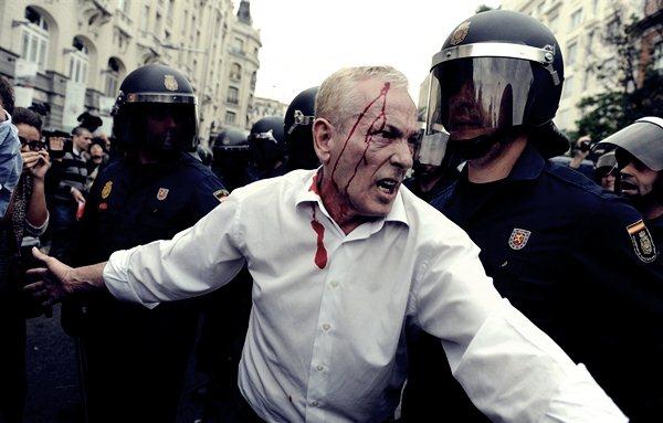 Демонстрации в Мадриде 25 сентября8 (600x383, 47Kb)