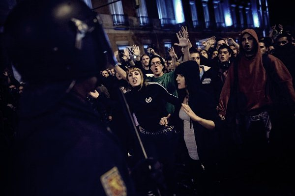 Демонстрации в Мадриде 25 сентября14 (600x399, 33Kb)