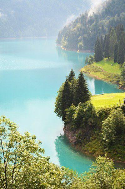 Озеро Sauris, Фриули, Италия (400x604, 56Kb)