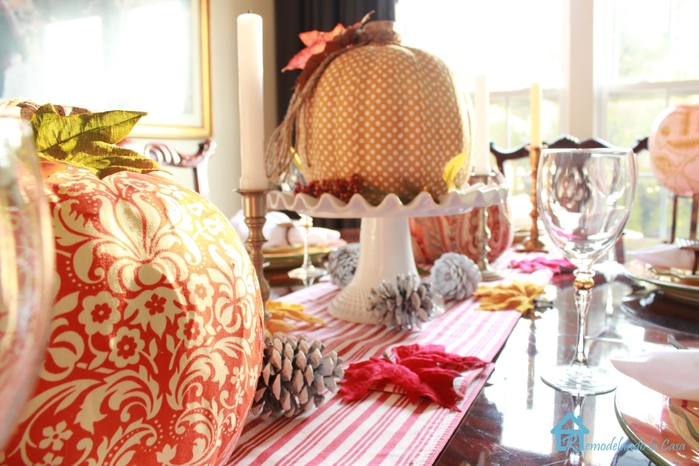 Fall tablescape decoupage pumpkins3 (700x466, 256Kb)