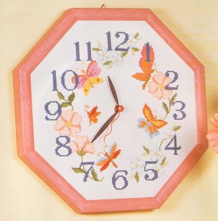 """Схема вышивки крестом """"Часы с"""