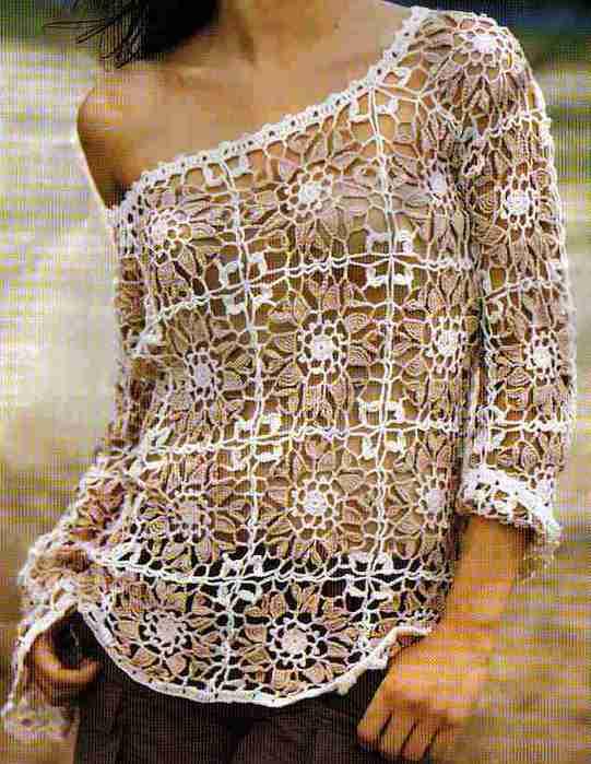 blusa branca marrom (541x700, 41Kb)