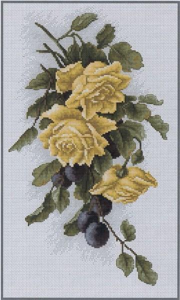 2230 Желтые розы со сливами (360x600, 102Kb)